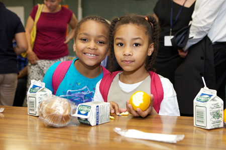 School Breakfast includes low-fat dairy, whols grains, fresh fruit and a side of concentration!